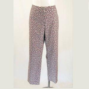 Boden Cream Floral Bistro Crop Trouser Pants
